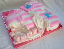 polo themed baby shower baby onesie pink white polo baby shower fondant cake side view