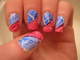 30 flashing patriotic 4th of july fireworks inspired nail art