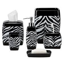 Black And White Bathroom Rug by Black And White Zebra Print Bath Accessories