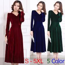 2017 plus size s 5xl 4xl xxxl women clothing winter maxi dresses