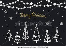 black white gold merry christmas happy stock vector 753704764