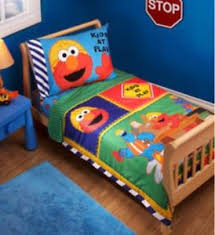 Elmo Bedding For Cribs Sesame Elmo Toddler Bed In A Bag Comforter Sheets Set Boy