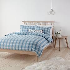 Brushed Cotton Duvet Covers Buy John Lewis Check Brushed Cotton Duvet Cover And Pillowcase Set
