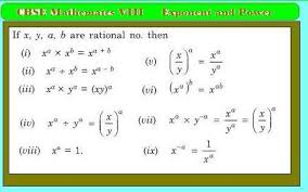 exponent and power jsunil tutorial cbse maths u0026 science
