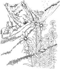 coloring pages for landscapes free coloring pages landscapes printables the color panda