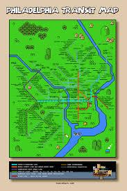 Philadelphia Subway Map Super Mario Philadelphia Map