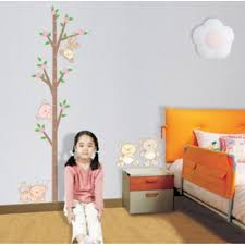 tree and bears growth chart wall sticker wall art decals vinyl