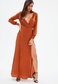 sleeve maxi dress maxi dresses flowy dresses missguided