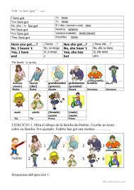 9 free esl family have got worksheets