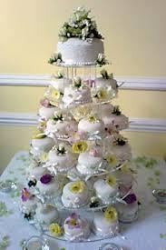 5 tiered mini or miniature wedding cakes or mini desserts each