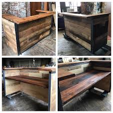 Industrial Reception Desk by Indistrial Style Reclaimed Wood Reception Desk By Montanawoodco On