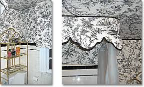 Toile Bathroom Wallpaper by Decorating With Toile De Jouy Fabric Part 3 Windows Bathrooms