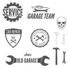 car service logo set of logo badge emblem and logotype element for mechanic