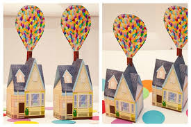 piggy bank favors balloon house favor box diy printable house piggy bank