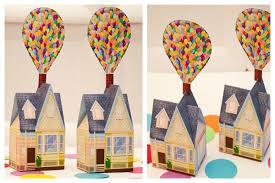 piggy bank party favors balloon house favor box diy printable house piggy bank