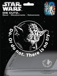 Star Wars Office Amazon Com Chroma 3941 Star Wars Yoda Die Cutz Decal Automotive