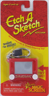 etch a sketch keychain keyring toy classic retro mini shake erase