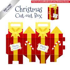 christmas boxes mega collection of 38 cut out christmas box templates