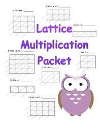 2x2 lattice multiplication worksheet lattice multiplication 2x2