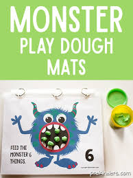 free printable shape playdough mats monster play dough math mats prekinders