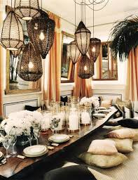 Global Decor Styles Boho Chic Interior Design Bohemian Dining Room Table Setting