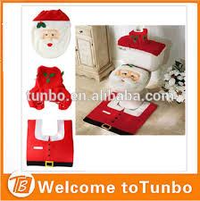 Christmas Bathroom Rugs Christmas Bathroom Decoration Toilet Seat Cover And Rug Set Stock