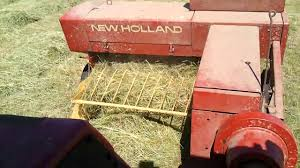 small baling with a new holland 276 hayliner youtube