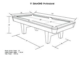 how big is a full size pool table standard bar pool table size pool table dimensions standard pool