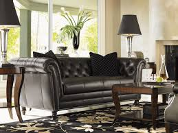 chesterfield sofa in living room lexington leather westchester leather sofa lexington home brands