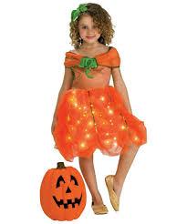 lite up pumpkin princess kids disney costume girls pumpkin costumes
