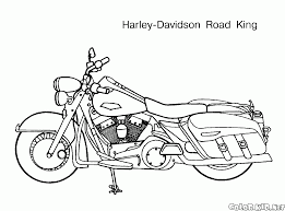 coloring page motorcycle bygone era