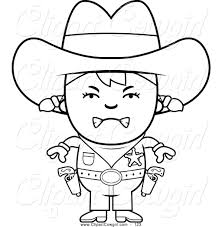 royalty free line drawing stock cowgirl designs
