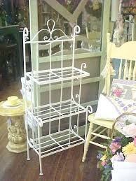 garden bakers rack shabby chic vintage wrought iron planter plant