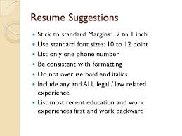 Standard Margins For Resume Upgrading Your Resume For On Campus Interviews Oci Ppt Video