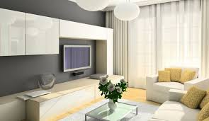 Minimalist Living Room by Living Room Light Grey Living Room Storage In Book Case Shape