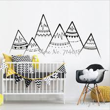 wall stickers murals tribal mountains wall decal woodland mountains wall sticker