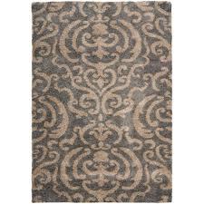 brown and tan area rug safavieh florida shag smoke dark brown 8 ft x 10 ft area rug
