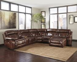 Reclining Leather Chair Small Three Pieces Maroon Leather Sectional Sofa With Reclining