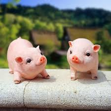 lovely garden backyard decorated piggy ornaments resin material