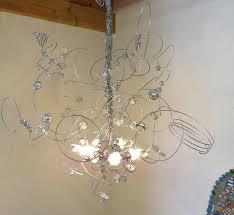 Wire A Chandelier Wire Chandelier Led Transparent Glas Marbles Pendant Light