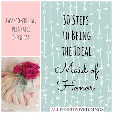 of honor planner book of honor duties allfreediyweddings