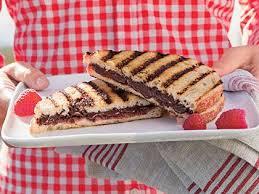 raspberry recipes grilled chocolate raspberry dessert sandwiches recipe myrecipes