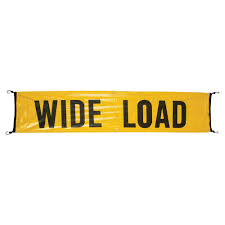Oversize Load Flags Vinyl Wide Load Oversize Load Banner W Bungee Cords Sewn In