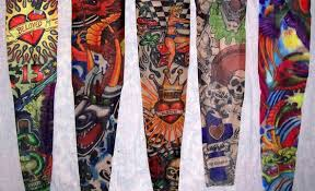 set of 5 fake sleeve tattoos perfect to release the rebel in you