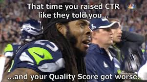 Sherman Meme - sherman shocked look ppc quality score meme