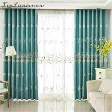 Cherry Blossom Curtains Aliexpress Com Buy New Stitching Hollow Embroidery Green
