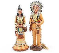 thanksgiving pilgrim statues and woman american thanksgiving figurines set of 2