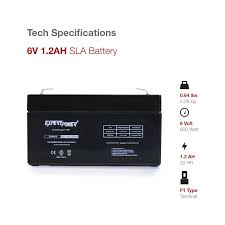amazon com expertpower exp612 6v 1 2 amp rechargeable battery
