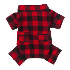 fabdog buffalo plaid flannel pajamas with same day shipping