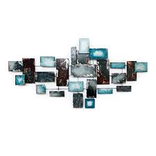 56 x 28 x 2 in turquoise gray blue wall décor at home at home
